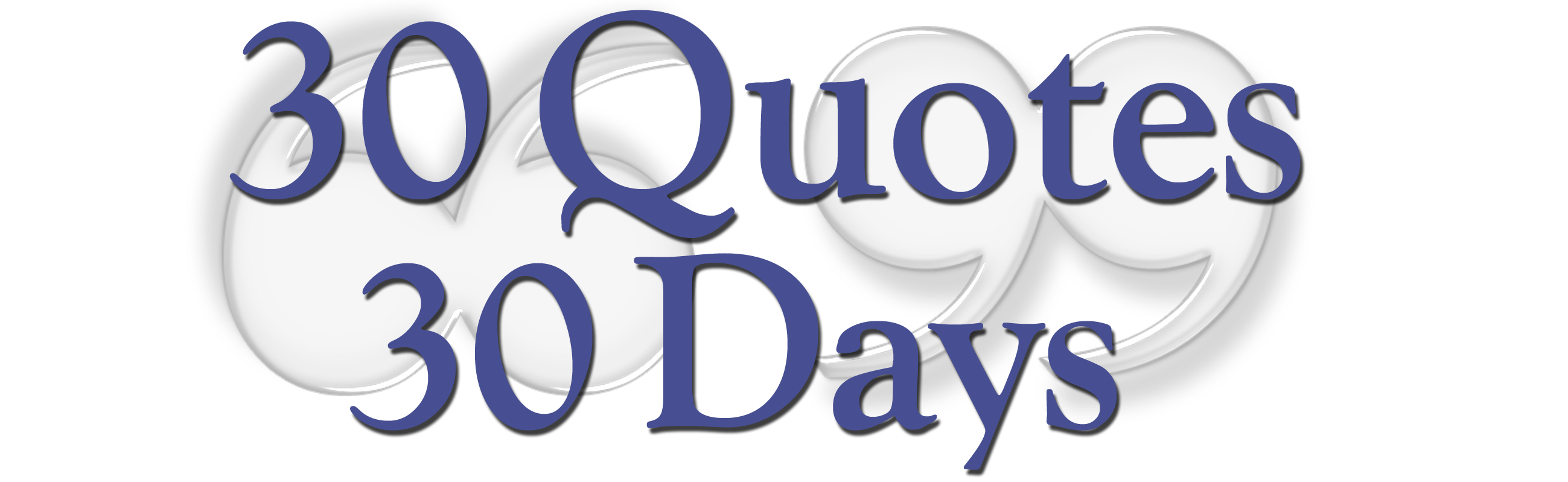 "Another PoP moment resolved: ""30 Quotes 30 Days"""